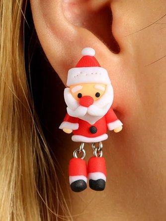 Christmas Creative Santa Claus Earrings